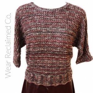 Knit Feminine Sweater w/ Scalloped Hem